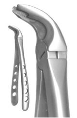 A. Titan X-Trac Forceps, Lower Universal, With Notched Beak (2190)