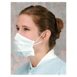 AlphaProTech Critical Cover PFL Ear Loop Mask w/Magic Arch Supports, Blue, 50/Box (615)