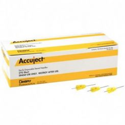 Dentsply Accuject Needle Plastic Hub Sterile Disposable 27 Gauge Short Color Coded 100/Bx  (900705)