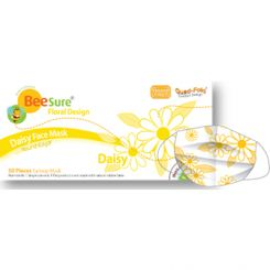 BeeSure Face Mask Floral Daisy Yellow/50 Level-2 (BE2330)
