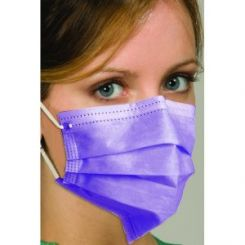 Breathe E-Z Pleated Ear-Loop Mask, Wider Pleated Mask,  Top Alluminium Piece Nose & Bottom Plastic Piece Nose with PP cloth, Pink (MK-1256)