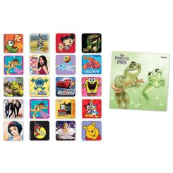 Sherman Stickers Licensed Characters 2.5 in Assorted 2500/Pk (PS501)