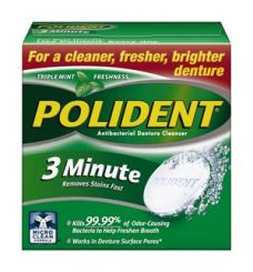Polident 3-Minute Antibacterial Cleanser, 40 tablets/box (old# 05306K)(60000000123477)