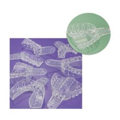 Plasdent Excellent-Crystal Clear Disposable Impression Trays, #3 Medium Upper, 12/ Pack (ITC-MU)