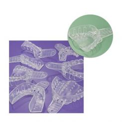 Plasdent Excellent-Crystal Clear Disposable Impression Trays, #5 Small Upper, 12/ Pack (ITC-SU)