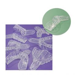 Plasdent Excellent-Crystal Clear Disposable Impression Trays, #7 Upper Right/Lower Left, 12/ Pack (ITC-URLL)