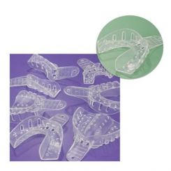 Plasdent Excellent-Crystal Clear Disposable Impression Trays, #X2 X-Large Lower, 12/ Pack (ITC-XLL)