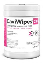 Metrex CaviWipes Surface Disinfectant Towelette Wipes, 65/ Can (14-1150)