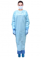 PacDent Premium Disposable Plastic Isolation Gowns, 12/bag (DCI-12B)