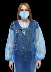 PacDent Disposable Plastic Pullover Isolation Gowns, 50/Pack (DGP-50)