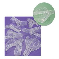 Plasdent Excellent-Crystal Clear Disposable Impression Trays, #2 Large Lower, 12/ Pack (ITC-LL)