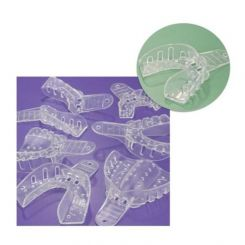 Plasdent Excellent-Crystal Clear Disposable Impression Trays, #6 Small Lower, 12/ Pack (ITC-SL)
