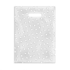Sherman Scatter Print Bags Teeth Line Art 2 Sided Print Clear 7 in x 10 in 100/Bx (98ZX)