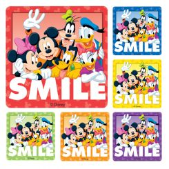 Sherman Stickers Disney Smile Assorted 100/Roll (PS233)