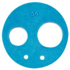 Midwest Hose Connector Gasket, Blue, 4 Hole (773002R)