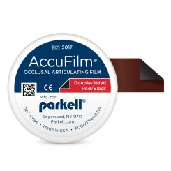 """AccuFilm II Art Flm 2Sd 3 1/2x7/8"""" 21 Mcrns/.0008"""" Pre-Ct Strps Black/Red Pack (S017)"""