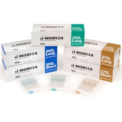 J. Morita Disposable Dental Needles, Plastic Hub, Sterile, 27 G Long, 30 mm, 100/Box  (20-27GL)