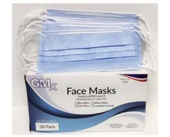 GMX Earloop Face Mask, Latex-Free, Blue, ASTM Level-3, 50/bx (GMX-FMELL)