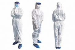 PacDent Coverall Isolation Clothes, White, w/ Cap, Medium (Foot Cover not Included) (CA-M)