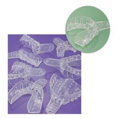 Plasdent Excellent-Crystal Disposable Impression Trays, Medium Lower, Clear 12/ Pack (ITC-ML)
