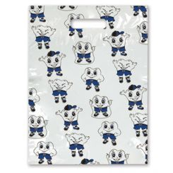 Sherman Scatter Print Bags Sweet Tooth 2 Sided Print Clear 7 in x 10 in 100/Bx  (98ZG)